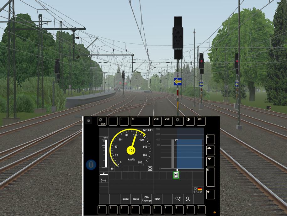 ETCS Fahrt auf haltzeigendes Signal